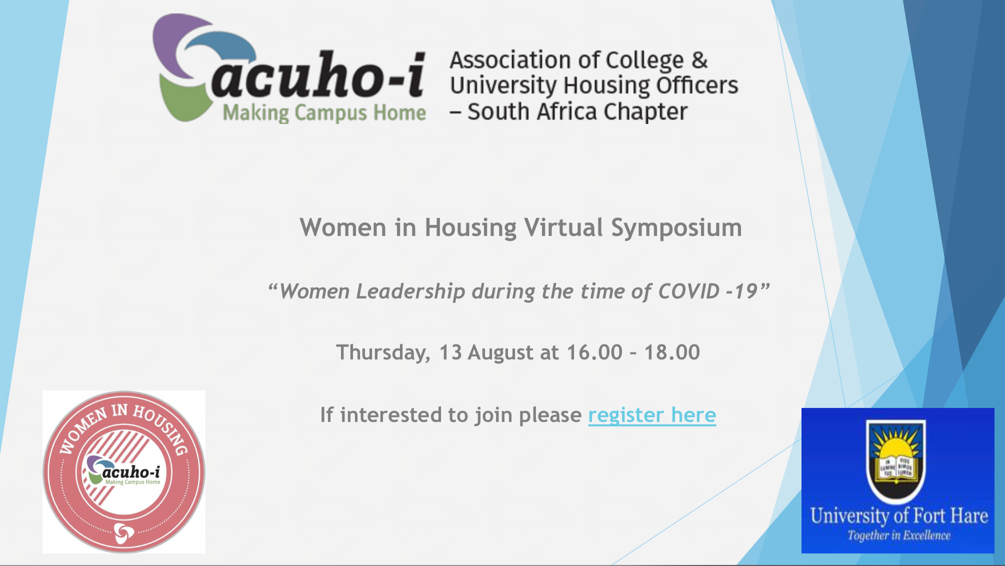 Register Here for Women in Housing Virtual Symposium